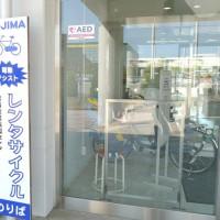 児島の町巡りには、自転車(レンタサイクル)が便利。